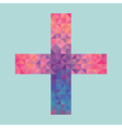 cross made of triangles vector image vector image