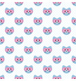 seamless pattern with cute blue cats and glasses vector image vector image