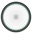Mountain bicycle wheel on a white background vector image