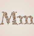 Decorated letter m vector image