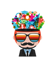 235hipster thinking vector image
