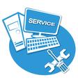 Computer service label vector image vector image