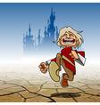 cartoon funny guy cheerfully running vector image