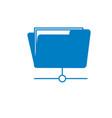 silhouette folder file data center server vector image