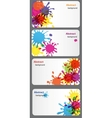 business card with Colored blots vector image