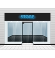 Shop front or store view vector image