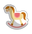 horse wooden toy icon vector image