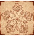Ornate vintage isolated doodle flowers vector image
