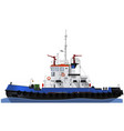 the marine tugboat with two water cannons vector image