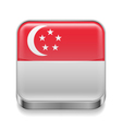 Metal icon of Singapore vector image vector image