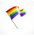 a rainbow flag waving vector image vector image