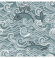 whale screen print vector image vector image
