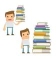 cartoon librarian vector image