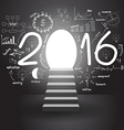 2016 business success strategy vector image