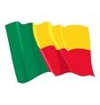 political waving flag of benin vector image