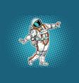 astronaut dancing funny gesture vector image
