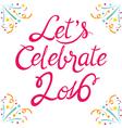 Celebration Lettering vector image