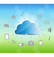 Cloud computing on nature background vector image
