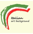 Creative background in the Italian colors Italy vector image