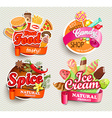 Food and drink elements vector image