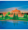 hand drawing castle and river vector image