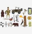 hunter ammunition set vector image