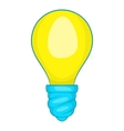 Lamp bulb icon cartoon style vector image
