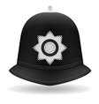 london police helmet vector image