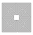 maze frame vector image