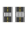 Pedestrian crossing on road vector image