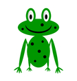 Frog icon on white vector image