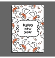 Happy new year greeting card with basilisk and vector image