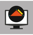 online education technology geometry triangle vector image