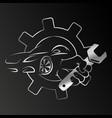 car repair design vector image