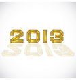 2013 heading vector image