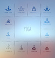 Set of logos for a yoga studio vector image