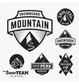 Set of Ski Snowboard Snow Mountains Sport Logos or vector image vector image