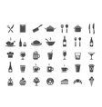 Restaurant kitchen icons vector image vector image