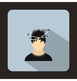 Man with dizziness icon flat style vector image
