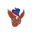 American Eagle Wings USA Flag Drawing vector image