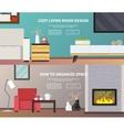 Living Room Furniture Banner vector image