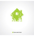 old green home vector image
