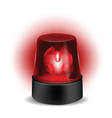 Red flashlight vector image