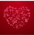 Red Valentine holiday background with hearts vector image