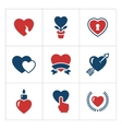 Set color icons of heart vector image