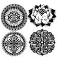 Set Mandalas vector image