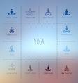 Set of logos for a yoga studio vector image