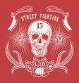 Street fighting club emblem vector image