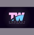 tw alphabet letter join joined letter logo design vector image