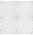 White relief pattern set vector image
